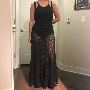 Free people mesh maxi dress